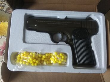 Детский мир - Бает: Игрушечный пневматический пистолет, металлический