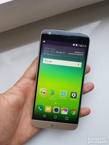 Fiksni telefon - Srbija: Lg g5(Korišćeno)90,00€ - Fiksno(Zamena moguća)Prodajem lg g5 zlatne