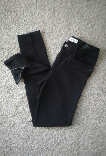 H&m 👑 pantalone sa cibzarima skinny  crne uske pantalone sa in Novi Sad