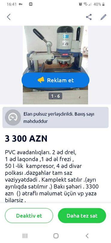 Vulkanizasiya avadanliqlari - Азербайджан: Pvc avadanlıqları ətraflı məlumat vp var