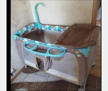 бу детские кроватки в Кыргызстан: Продаю детскую кровать с пеленальным столиком, покупали за 10000