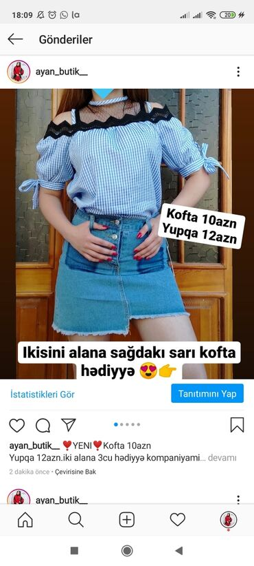 zhenskaya sportivnaya kofta в Азербайджан: Yupqa 12azn göy kofta 10azn.ikisini alana sarı kofta hediyyetəklikdə