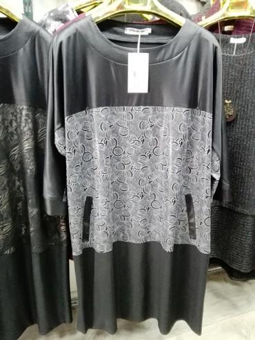 спортивные платья больших размеров в Кыргызстан: Туника больших размеров от 58 по 68 по 1200 сом