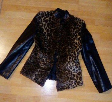 Krznena jaknica sa kožnim rukavima🔝🔝🔝 - Vranje