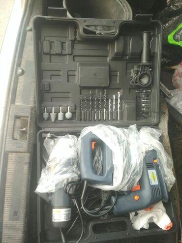 Наборы инструментов - Кыргызстан: Болгарка,лобзик,дрель набор