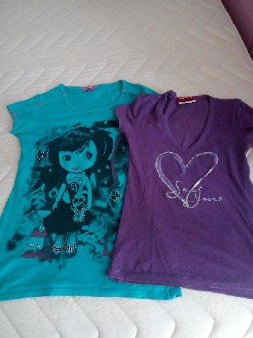 Dečiji Topići I Majice | Loznica: Dve decije majce s vel pamuk likra ocuvane