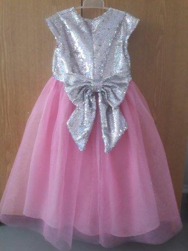 Детский мир - Кок-Ой: Платье БУ на 3-5 лет, на рост 95-98 см будет в пол (фатин+паетки
