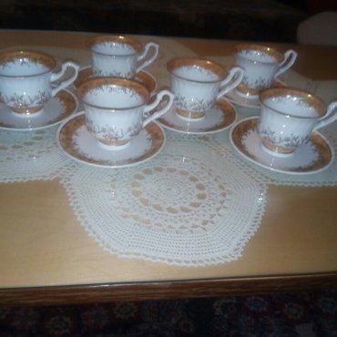 Porcelanske šoljice za kafu, 6kom sa tanjirićima - Ruma