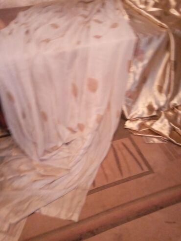 тюл в Кыргызстан: Продаю шторы с тюлемтюль 5 метровшторы 4 метравысота 3 метра