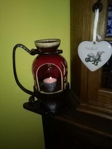 Svecnjak od gvozdza I keramike,prelepo,vidi slike. pogledaj moje - Sombor