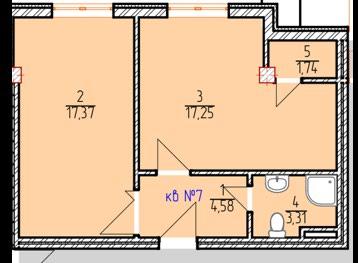 Продается квартира: 1 комната, 46 кв. м., Бишкек в Бишкек