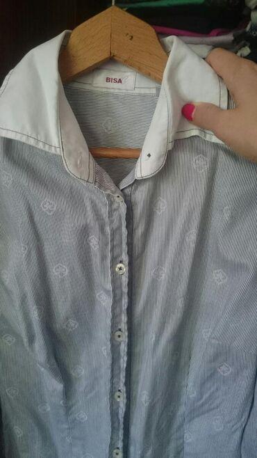 Azzaro košulja, strukirana, 36 veličina,fali po jedno dugme na