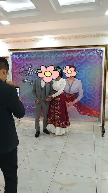 свадебные платья in Кыргызстан   МАТЕРИНСКИЕ ПЛАТЫ: Срочно продаю свадебное платье и платье на Кыз узатуу . Свадебное
