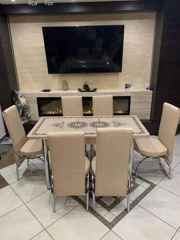 Set - sto i 6 stolica po ceni od 250e kapara unapred 30 evra   Dimen