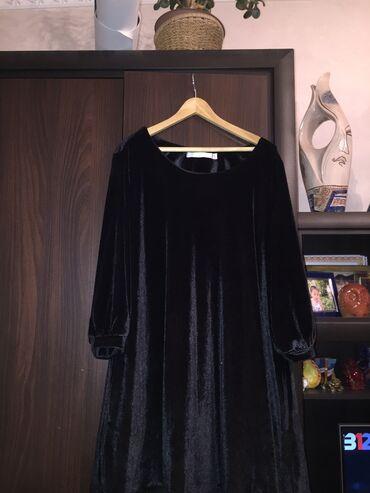 платья из велюра в Кыргызстан: Платье-велюровое,новое (размер не подошёл)