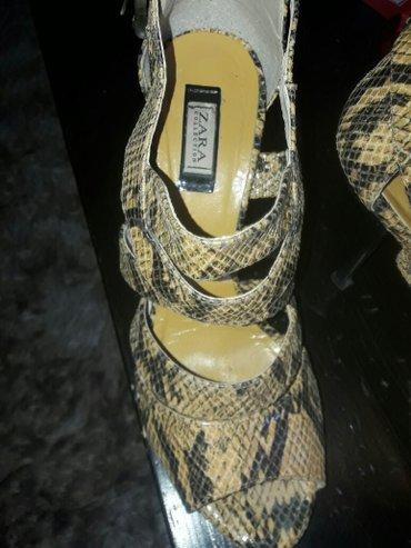 Zarine sandale,stikla 10cm,broj 37,bez ostecenja,zmijska koza - Belgrade