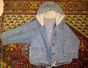 Детский мир - Кара-Балта: Джинсовая куртка Размер s m Цена 400