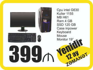 Stolustu kompyuter Pentium G630 в Bakı