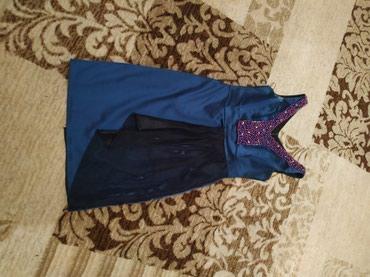 синяя mini в Кыргызстан: Платье красивое синего цвета надели всего раз на выпускной продаю за