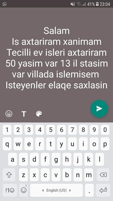 приходящая домработница в Азербайджан: Tecilli is axtariram gundelikde ola ayliqda mawimi vere bilerler