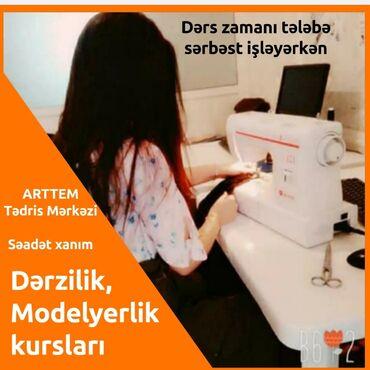 Təlim, kurslar - Azərbaycan: Dərzilik, Modelyerlik kursları: Dərzilik kursuna daxildi; 1.Çertyojun
