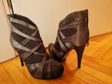 Broj cizme - Srbija: Cizme, broj 39,nove,veoma elegantne i udobne sive boje