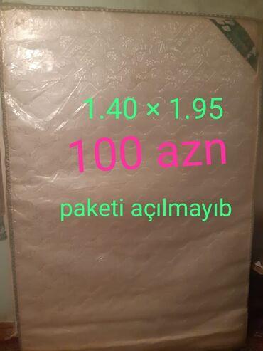 Iki neferlik matras tezedi paketide acilmayib olcu 1.40 *1.95 qiymet