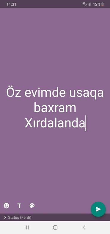 uşaq akvaşuzlar - Azərbaycan: Salam öz evimde usaqa baxram temiz seliqe xanimam baxdim usaqa 100%