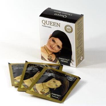 Краска для волос «Квин» Каштан на основе натуральной хны(без аммиака)
