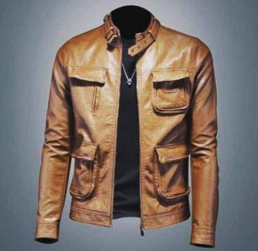 кожаная куртка мужская купить в Кыргызстан: Куртка из кожи ПУРазмер М-ЛНа рост до 173см, вес до 73кгПроизводство