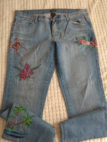 джинсы с разрезом на коленках в Кыргызстан: Джинсы большого размера состояние хорошее отдам по 199с р-н Орто