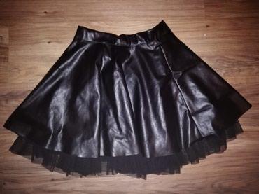 Crna kozna suknjica. Nova - Smederevska Palanka