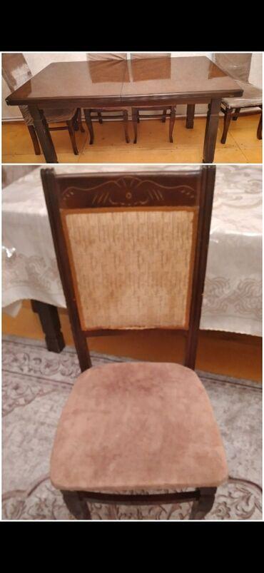 - Azərbaycan: 6 stul ve Stol satilir.Baha alinib agir materialdandir.Stolu əla
