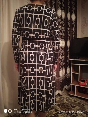 черно белая платья в Кыргызстан: Платье повседневной чёрно белый