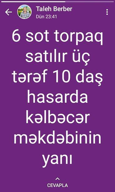 Torpaq sahəsi satılır 6 sot Tikinti, Maklerlər narahat etməsin
