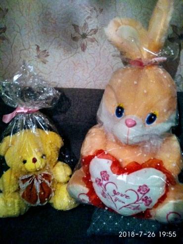 Мягкие игрушки,состояние новое.заяц в Novopokrovka