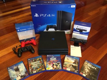 PlayStation 4 pro 1tb with 2 controllers and 5 games of your choice  - Beograd