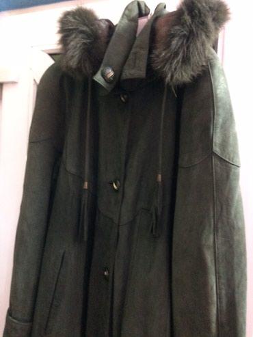 Плащ пальто кожа нообук Xxl - 50-52 в Бишкек