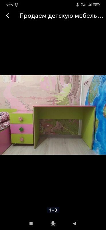 шредеры 11 12 на колесиках в Кыргызстан: Продается письменный стол,100х60 см и тумба на колесиках