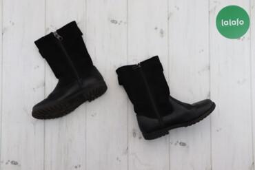 Детская обувь - Б/у - Киев: Підліткові чоботи з замшевою вставкою H&M, p. 31    Довжина підошв