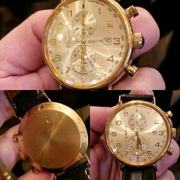 Geneve firması qızıl saat çox az işlənib. Əyarı 750 təmiz qızıldır.Heç