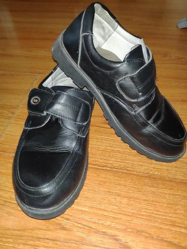 туфли черные 35 размера в Кыргызстан: Ош. Туфли на мальчика. Размер 35. Состояние хорошее. Царапин нет