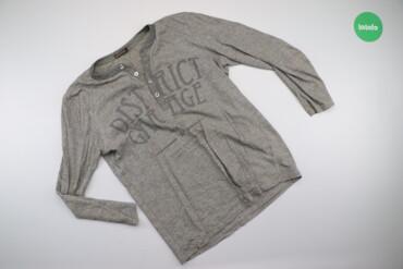 Мужская одежда - Украина: Чоловічий лонгслів з написом Glo-Story, p. M    Довжина: 71 см Ширина
