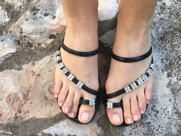 Jako zanimljive papuce-sandale, broj 37.  - Gornji Milanovac