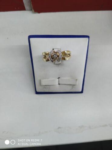 цена золота бишкек в Кыргызстан: Кольцо с бриллиантами жёлтое золото 585 пробы, БАКУ, размер