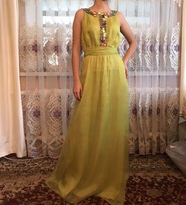 бу вечернее платье размер 46 в Кыргызстан: Очень нежное платье. Производство Индия. Одевала два раза. Размер