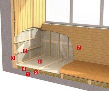 Утепление балконов и лоджий. Установка балконов. в Бишкек