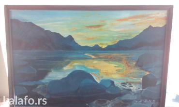 Ulje na platnu slikar Jaric slikana 1991dimenzije 95*65 - Kula
