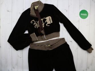 Личные вещи - Украина: Женский велюровый спортивный костм Juicy Couture, XL    Кофта: длина-