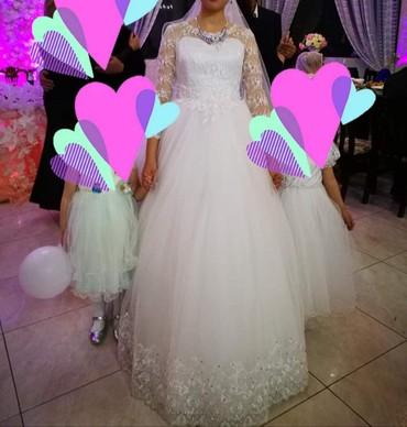 Свадебные платья - Токмак: Продаю свадебное платье Б/У состояния хорошее. Было надето один раз